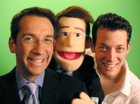 Dave Price and puppet Dave