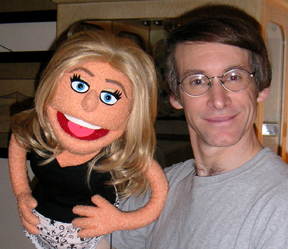 Kelly Ripa puppet and her creator Rick Lyon