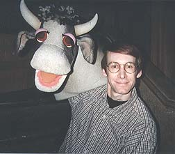 Rick Lyon and a SESAME cow