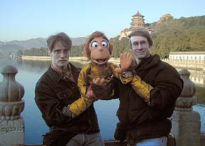 Ron and Monkey and Rick in Beijing